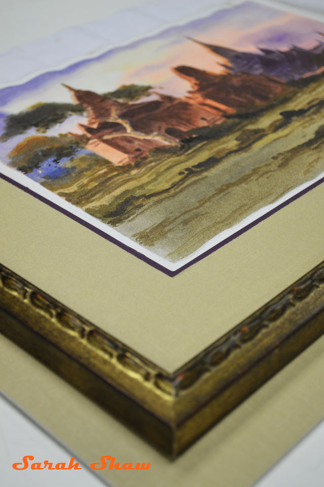 Using two mat boards to frame a painting
