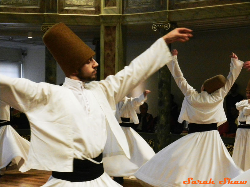 Whirling Dervishes in Mevlevi Sema Ceremony, Istanbul, Turkey