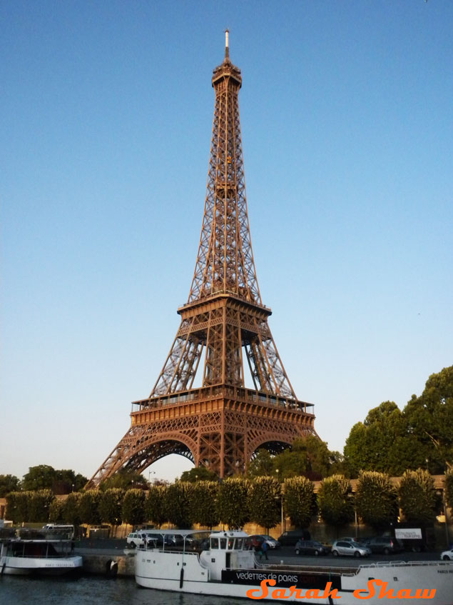 Eiffel Tower as seen from a Bateaux Mouches in Paris, France
