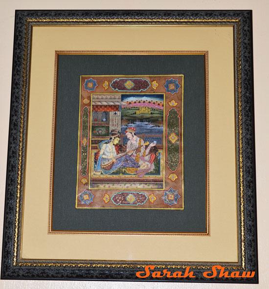 Detailed miniature from Varkala, India