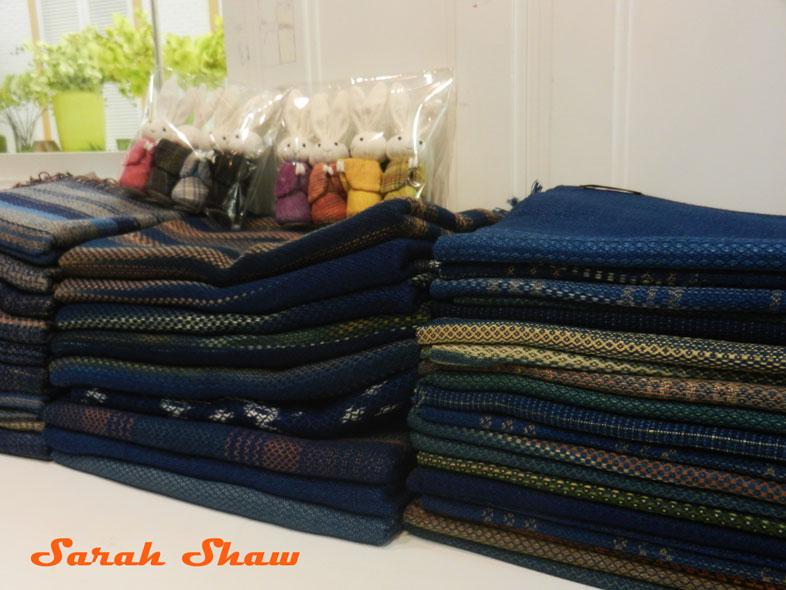 Indigo textiles at Indigo House, Bangkok, Thailand