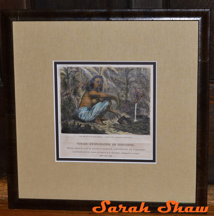 Framed Engraving from Laos by Frames Unlimited