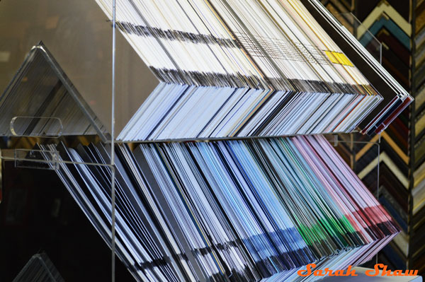 Mat boards at Frames Unlimited