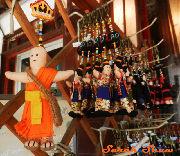 Fanciful keychains at Naga Creations, Luang Prabang, Laos