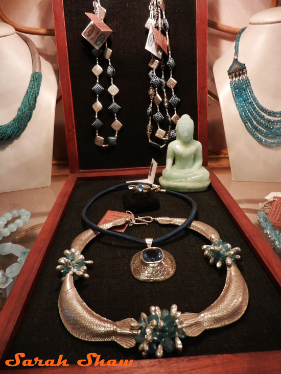 Gemstone and Silver Necklaces from Naga Creations, Luang Prabang, Laos