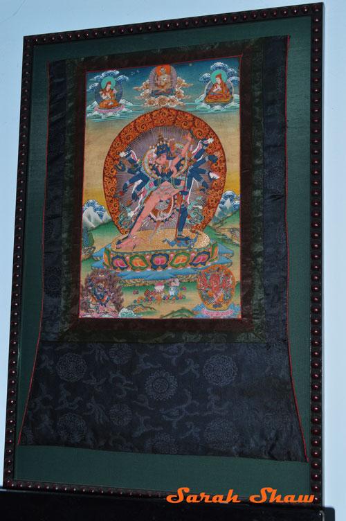 Custom framed Tibetan Thangkha
