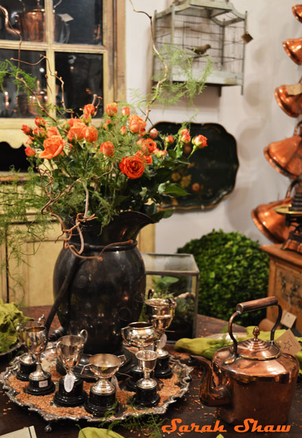 A collection of trophies from Leftovers Antiques at the Antique and Garden Fair in Chicago