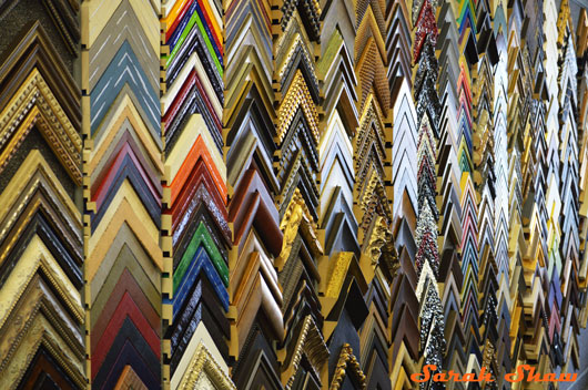 Many frame choices at Frames Unlimited