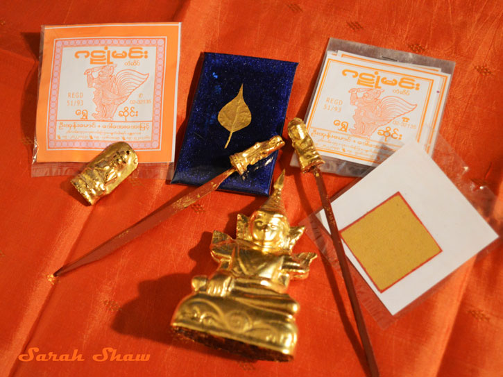 Gold Leaf souvenirs from Mandalay, Myanmar