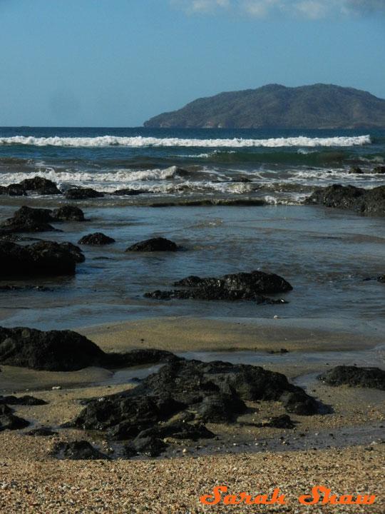 The beach in Tamarindo, Costa Rica