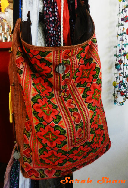Hill tribe tote bag offered by Bagus in Tamarindo, Costa Rica