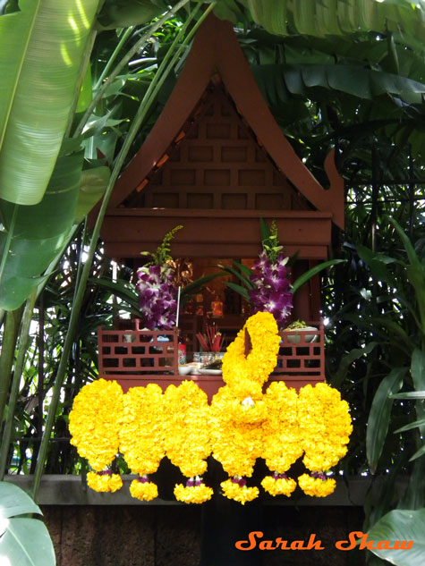 Spirit House in the garden at Jim Thompson's House in Bangkok, Thailand