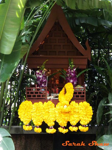 Spirit House in the garden at Jim Thompson's House in Bangkok, Thailand