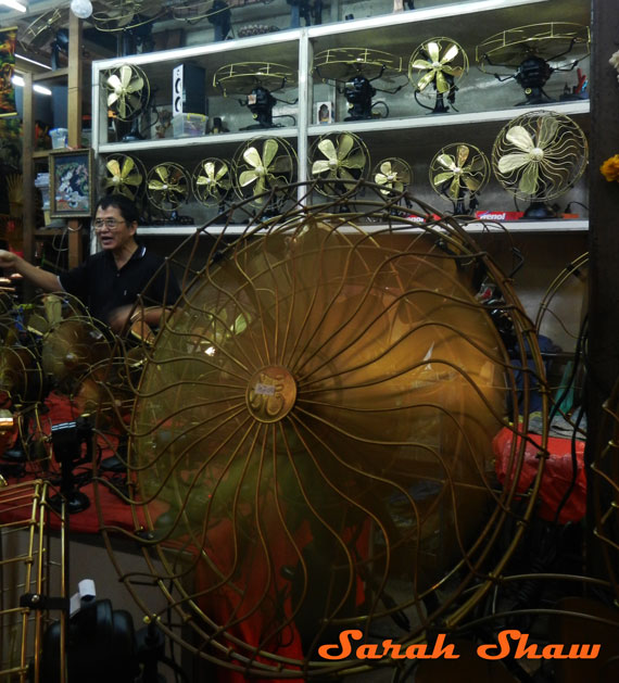 Handmade electric fans can be found at Chatuchak Weekend Market in Bangkok