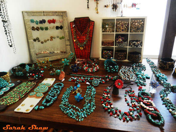 Jewelry offersing at Bagus in Tamarindo, Costa Rica