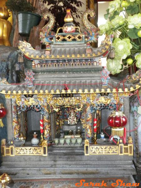 Temple Spirit House near the Royal Place in Bangkok, Thailand