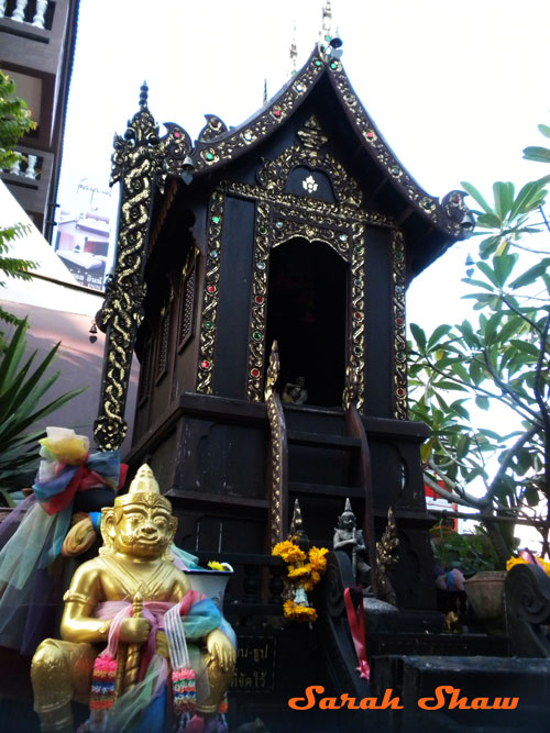 Spirit House outside a temple in Chiang Mai, Thailand