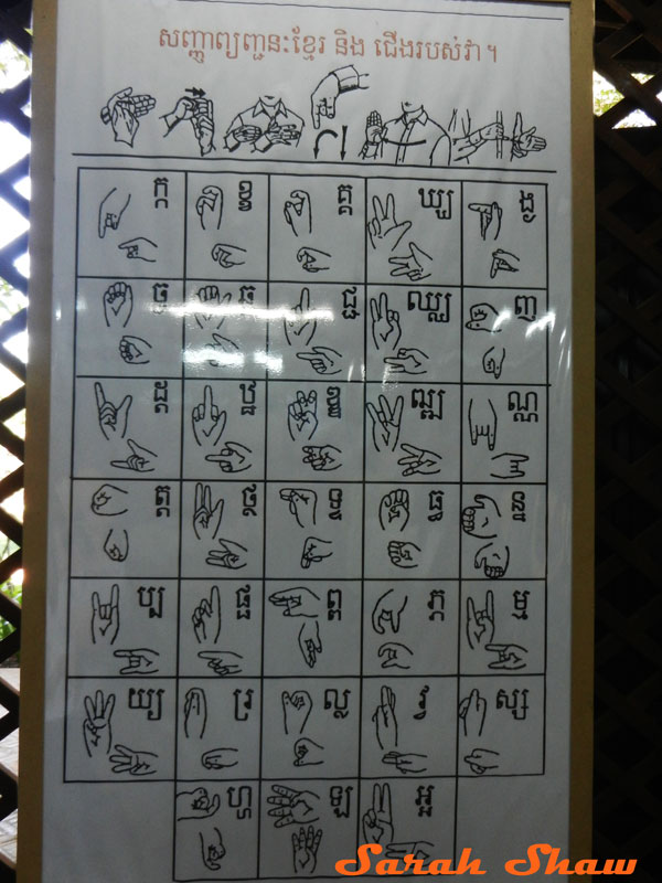 Sign Language Chart in Khmer