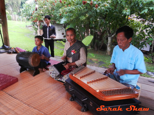 Musicians provide live music during my baci ceremony in Laos