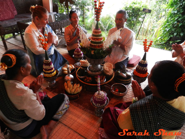 A baci ceremony is traditional event in Laos