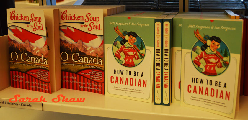Canadian themed books at the Royal Ontario Museum Store