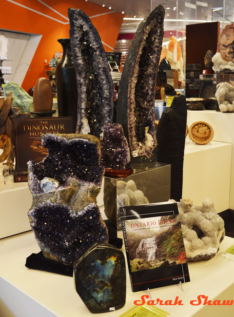 Geodes for rock enthusiasts and collectors are part of the offerings at the ROM Museum Store