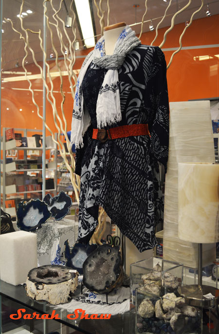 Indigo fashion inspires shoppers at the Royal Ontario Museum Store