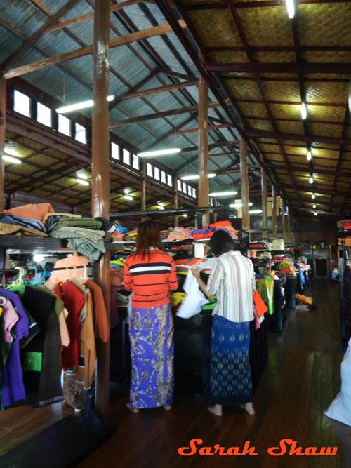 Shopping at Khit Sunn Yin in Lake Inle, Myanmar