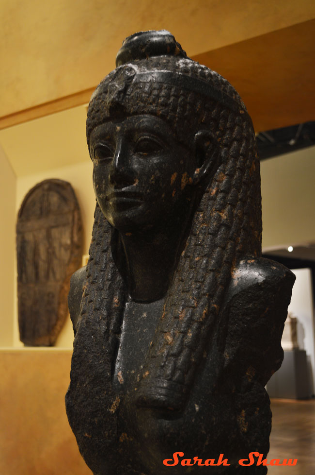 Rare bust of Cleopatra VII in the Egyptian section of the Royal Ontario Museum