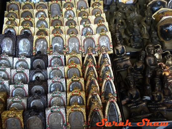 Amulets for sale in Bangkok, Thailand