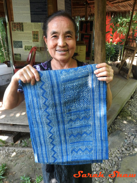 Hmong batik textile dyed with indigo