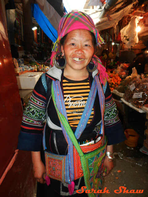 Hmong woman at market