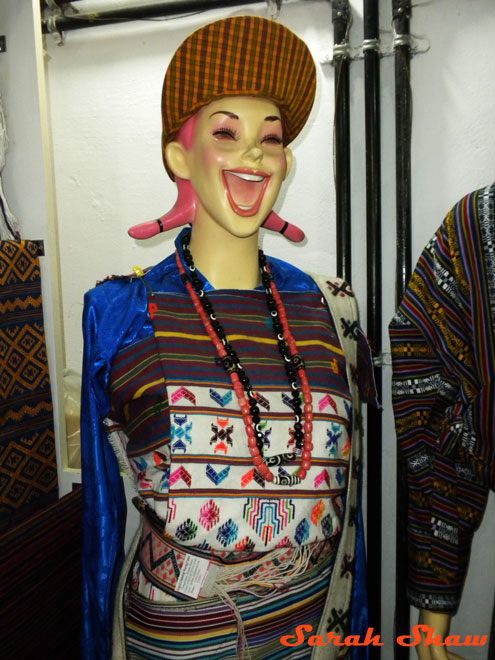 Fashion mannequin in Thimphu, Bhutan