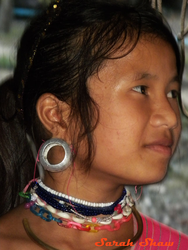 Padaung ear plugs near Chiang Rai Thailand