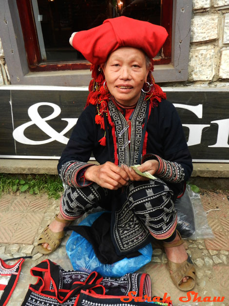 Red Dao woman Sapa Vietnam