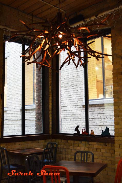 Branch chandelier of wood
