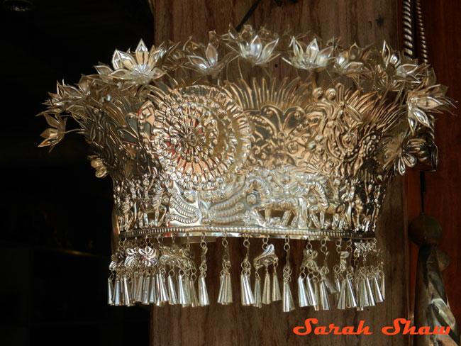 Silver headdress Hmong Luang Prabang Laos