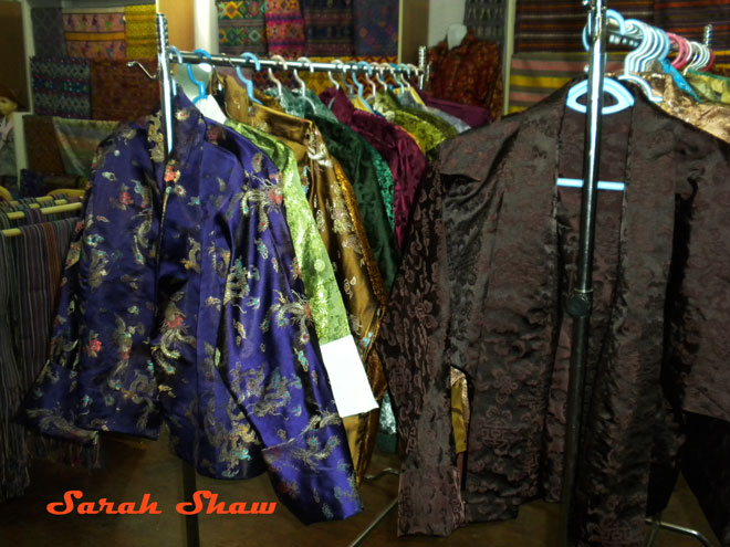 Silk jackets for sale in Thimphu