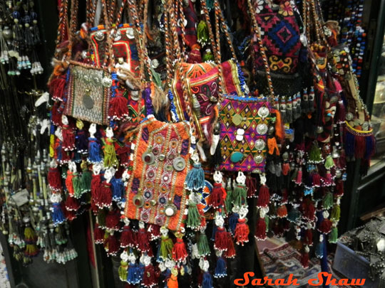 Tribal purses are found in the Grand Bazaar in Istanbul, Turkey