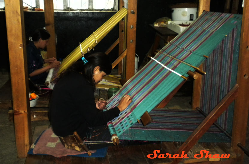Back strap loom in Thimphu, Bhutan