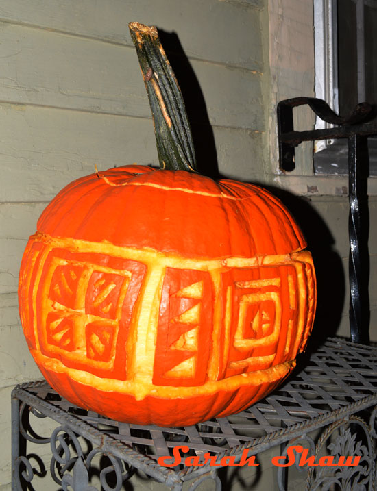 Traditional designs from Laos on Jack O Lantern