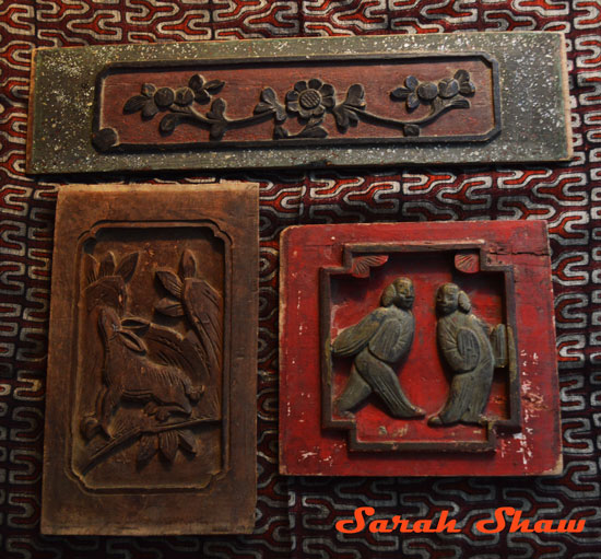 Tibetan and Chinese wooden panels