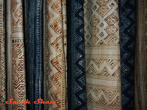 Batik panels as curtains