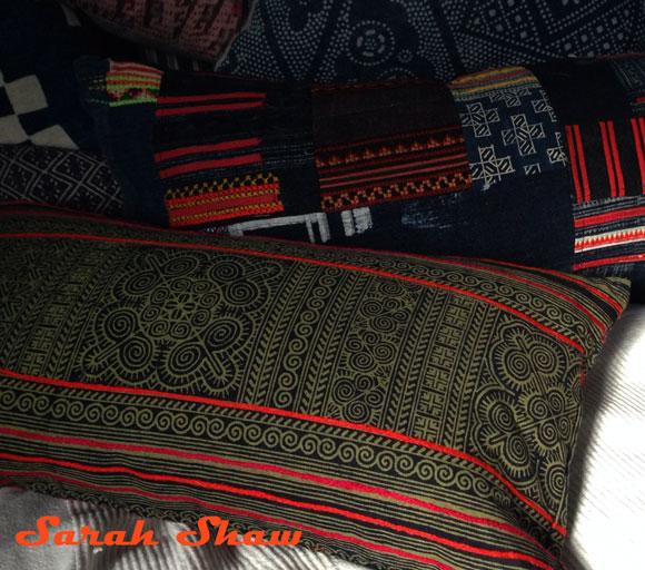 Hmong textile pillows