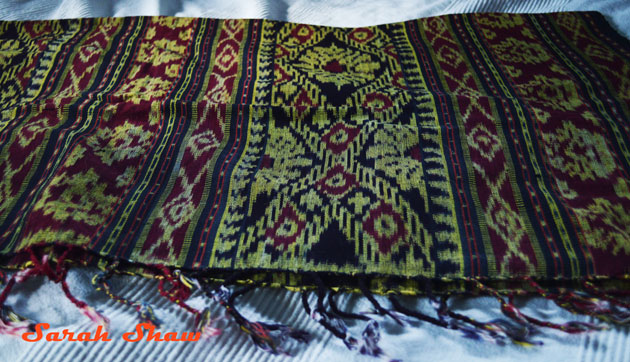 Ikat throw from Indonesia