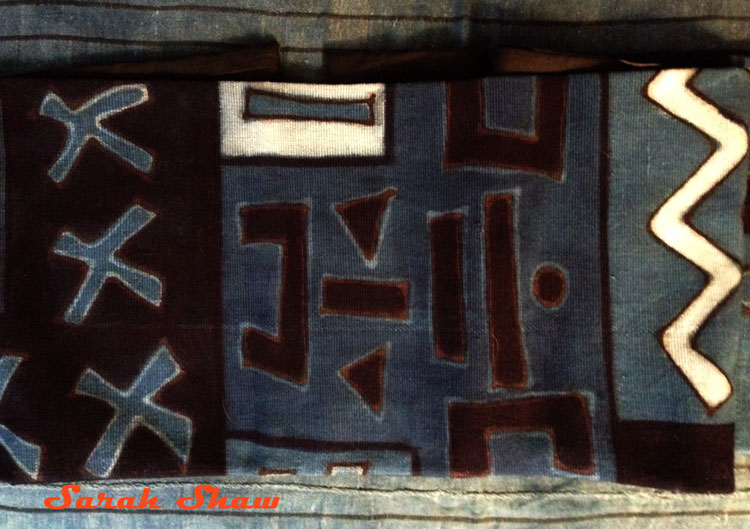 Indigo mudcloth from Mali