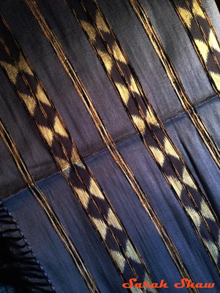Indigo silk shawl from India
