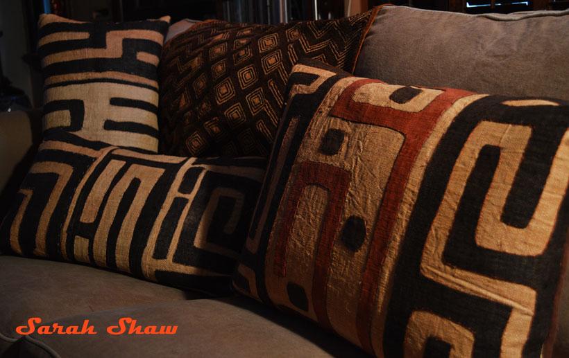 Kuba cloth pillows and textiles