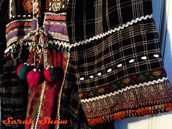 Sleeve detail on tribal coat from Rajasthan