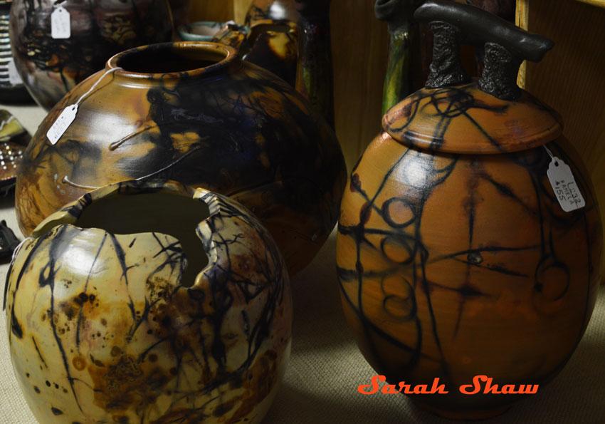 Burnished pots